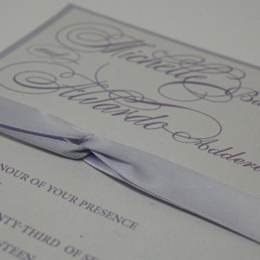 Ribbons make Invitations more lovely