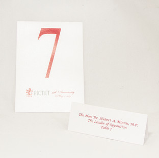 Event Table Card & Matching Place Card