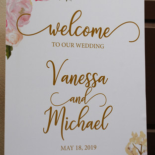 Elegant Welcome Sign