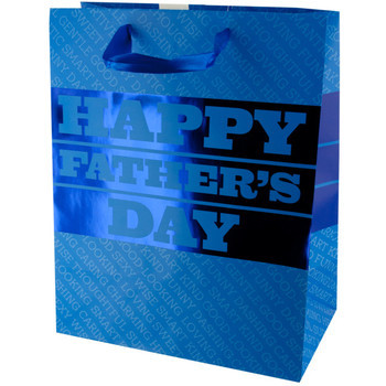 Blue Foil Father's Day Gift Bag