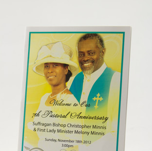 Pastoral Anniversary Booklet