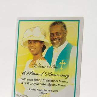 Pastoral Anniversary Booklet