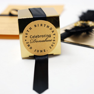 Gold Birthday Circle Favour Cards