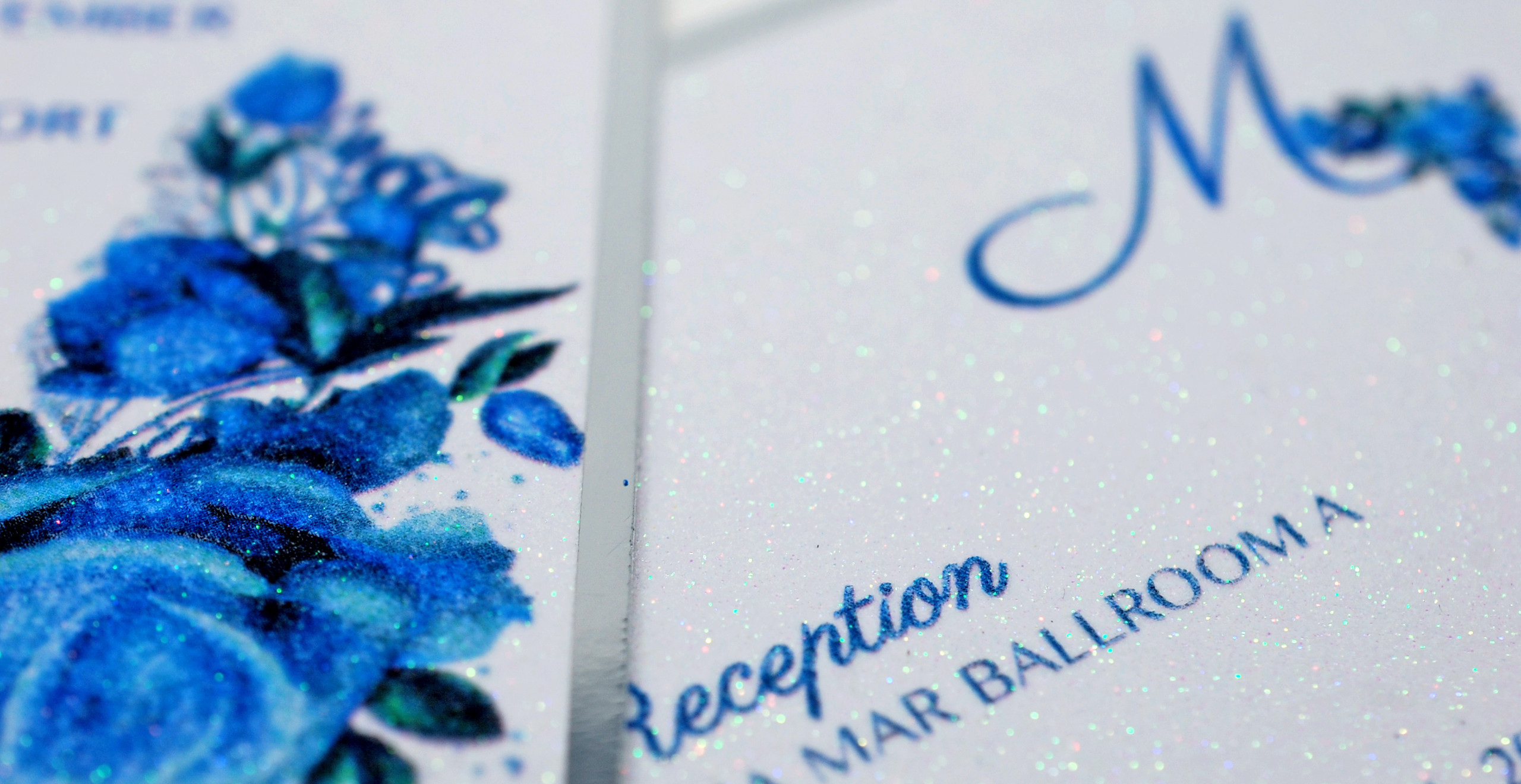 Glitter Paper Cards Matching to Invite