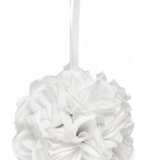 Rose Kissing Ball - White