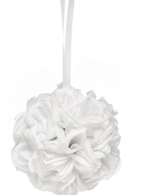 Rose Kissing Ball - White