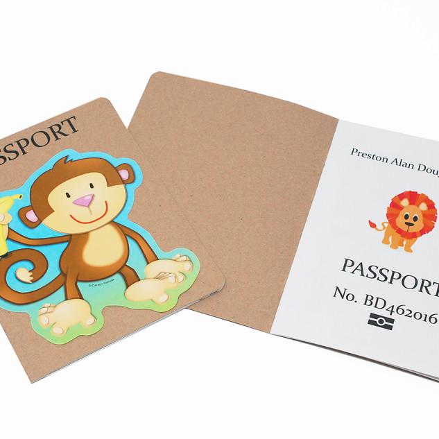 Passport Style Invitation