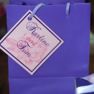Purple Mini Shopper Bag