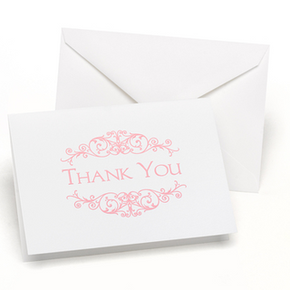 Pink Thank You Cards