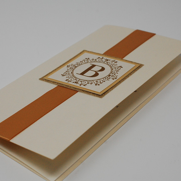 Tea Length Monogram Booklet