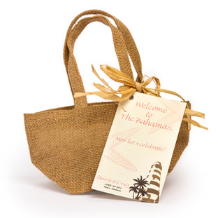 Burlap Bag with Handles
