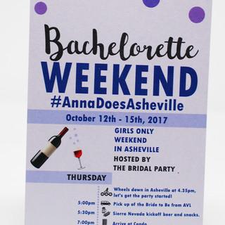 Bachelorette Weekend Front