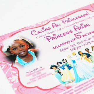 Princess Theme Invitation
