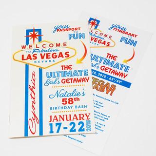 Vegas Baby! Theme Passport Style Invitation & Intinerary