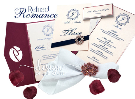 Design Of The Week - Refined Romance | Elisha and Dasha