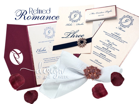 Design Of The Week - Refined Romance | Elisha and Dasha