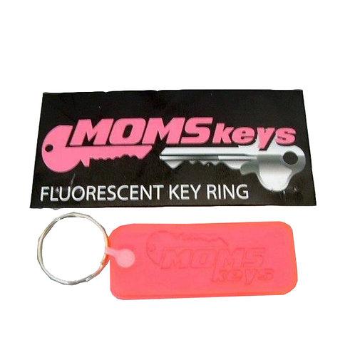 Mom's Keys Hot Pink Key Chain
