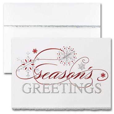 Red & Silver Season's Greetings