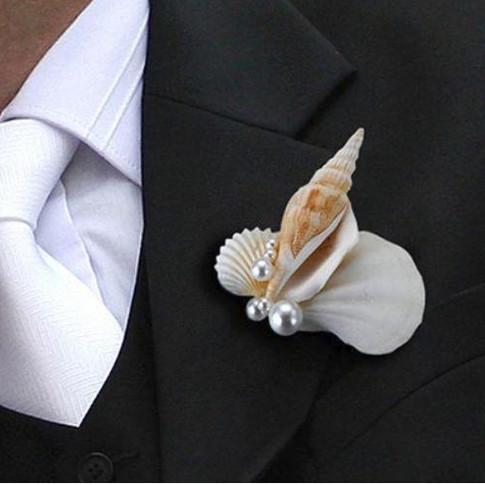 Coastal Seashell Boutonniere