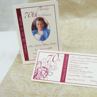 Matching Invitation and Program