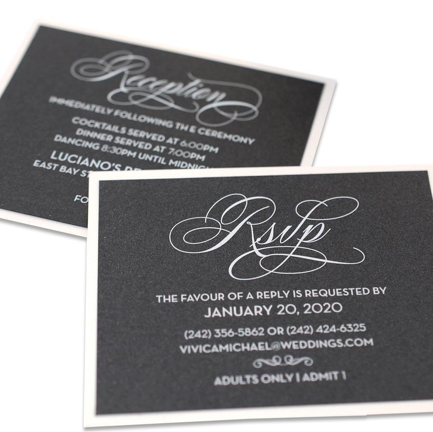 Matching Reception & RSVP Cards