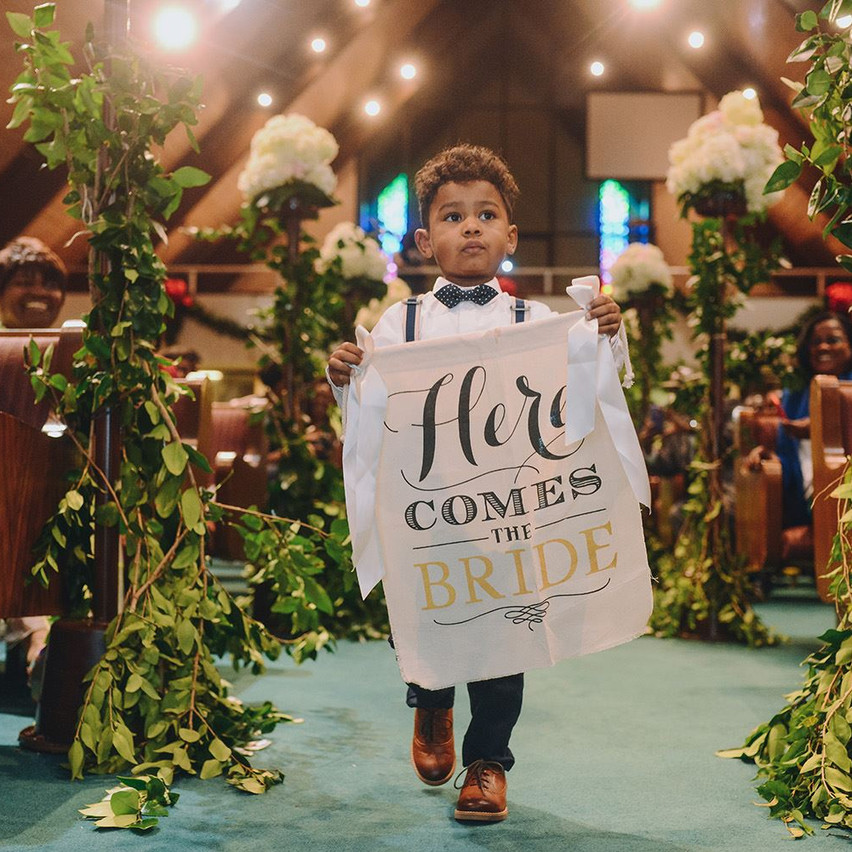 Here Comes the Bride. Sign available at Template