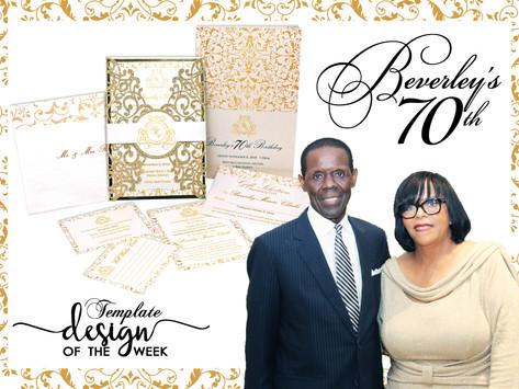 Design Of The Week - Beverley's 70th Birthday