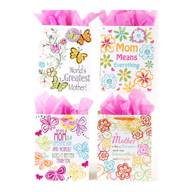Classic Tall Love Mom Gift Bags