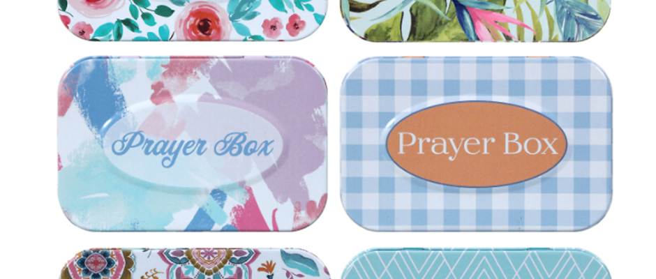 Tin Prayer Boxes with Notepads & Pencils