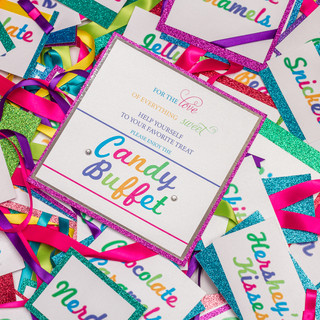 Colorful Candybar Tags