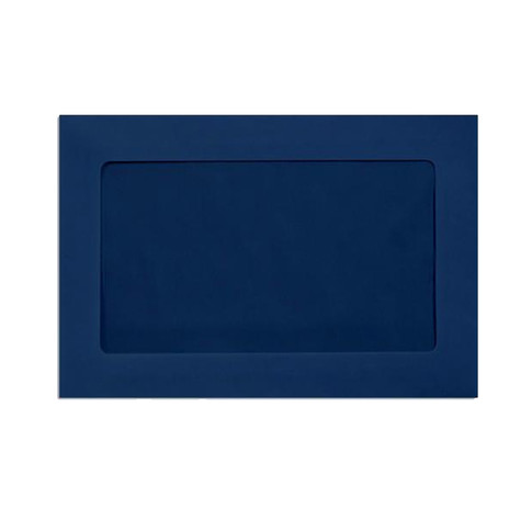 A9 Navy Window Envelope