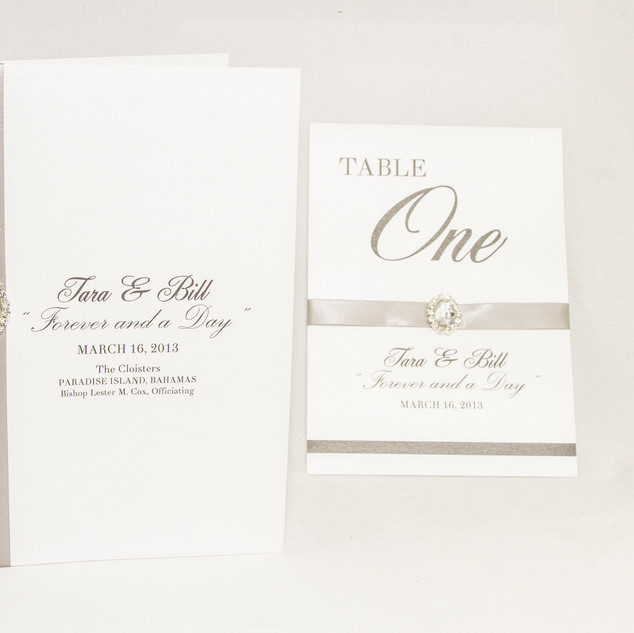 Program with matching table card