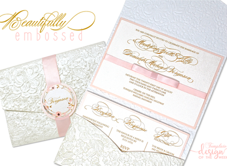 Design Of The Week - Beautifully Embossed | Madeline & Donald