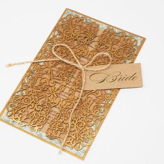 Lasercut Menu Card In Gatefold