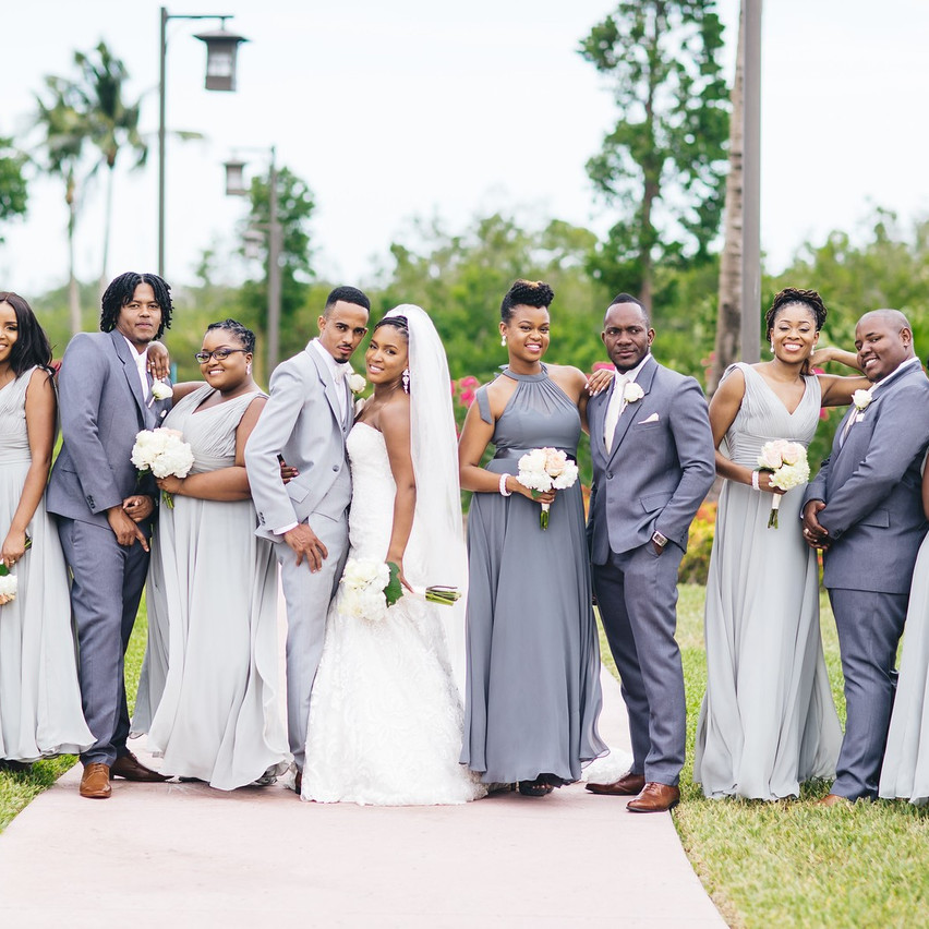 The Bridal Party In Platinum