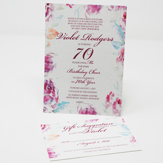 Water Colour Invitation with Matching Monetary Gift Envelope