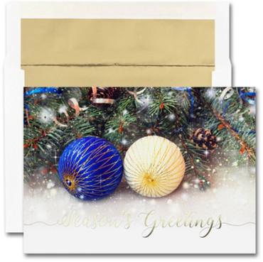 Blue & Gold Ornaments