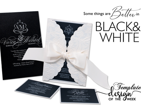Design Of The Week - Some Things are Better in Black & White | Vivica & Michael