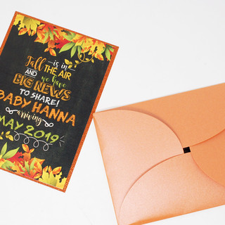 Fall Themed Baby Shower Invitation