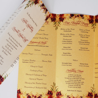Trifold Gold & Ivory