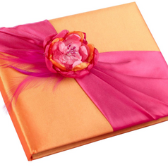 Hot Pink & Orange Guest Book