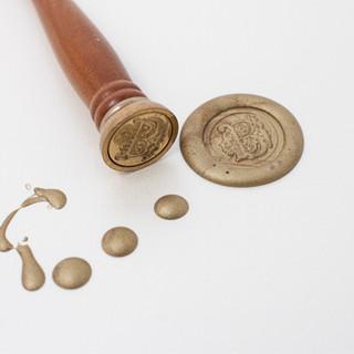 Wax Seal Monogram Letters