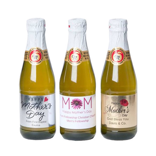 Set of 10 Personalized Miniature Apple Cider