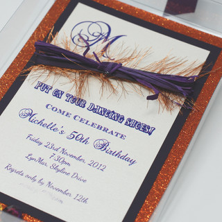 Clear Box Invitation with Stones
