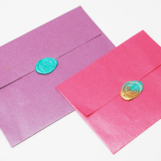Coloured Envelopes with Wax Seal