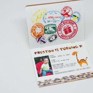 Passport Style Invitation Open