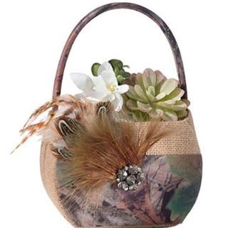 Camouflage Flower Girl Basket