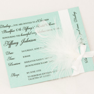 Tiffany Bridal Shower Invite