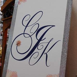 Custom Bling Monogram Sign
