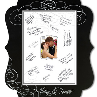 Chalkboard Guest Signing Picture Frame